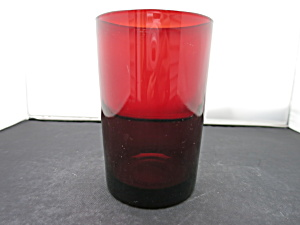 Ruby Glass Water Tumbler 5 Inch Marked 71