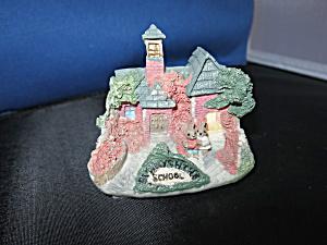 Miniature Bunny Rabbit School House Figurine Village  (Image1)