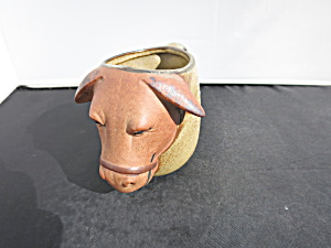Red Clay Sheep Cup Mug Hand Made Hand Painted
