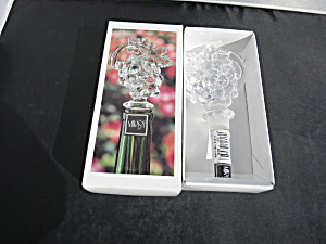 Mikasa Lead Crystal Bottle Stopper Fruit Grapes