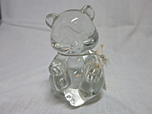 Fenton Art Glass Birthstone Bear No Birthstone