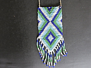 Choctaw Native American Indian Glass Seed Bead Necklace