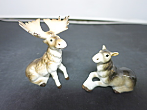 Moose Bone China Salt And Pepper Shakers