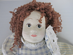 Pier 1 Imports Cloth Doll with Stockinette Painted Face (Image1)