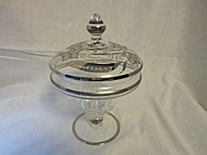 Vintage 25th Anniversary Bohemian Crystal Candy Dish