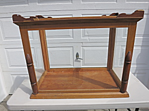 Antique wooden framed glass counter top store display (Image1)