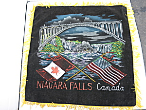 Niagara Falls Canada Pillow Cover With Usa Flag