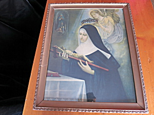 Saint Rite of Cascia  Patroness of abused wives Litho (Image1)