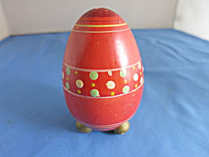 Egg Casket Footed Wooden Painted Circa 1920s To 1930s