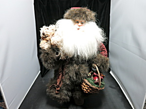 Christmas Fantasies Santa With Teddy Bear