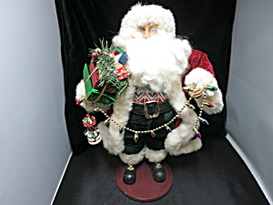Christmas Fantasies Santa With Presents And Garland