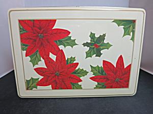 Vintage Christmas Poinsettia tin (Image1)