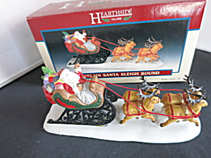 Hearthside Lemax Santa Sleigh Bound Village Accessory
