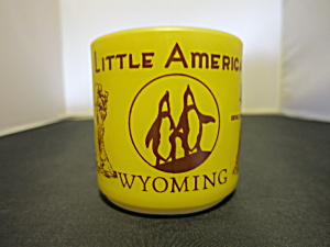 Little America Wyoming Federal Glass Cup Mug Souvenir