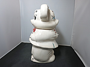 American Bisque Turnabout Bear Cookie Jar 1940s (Image1)
