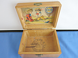 Victorian Clarks Spool Cotton Maple Wooden Box 1880s