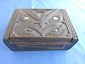 Vintage Maori Hand Carved Box Maori Tribal Group