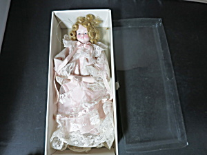 Vintage Porcelain Doll Christmas Tree Ornament half doll (Image1)