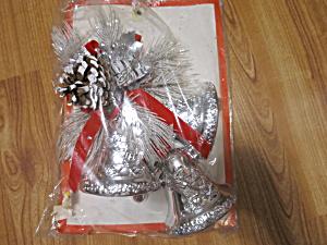 Vintage Silver Bells Christmas Decoration decor crafting (Image1)
