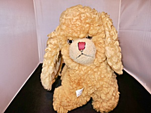 Vintage Nalle Plush Dog Made With Real Lamb Fur