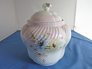 Porcelain Biscuit Jar Cracker Jar Roaring 20s