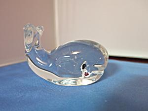 Murano Art Glass Whale Paperweight (Image1)