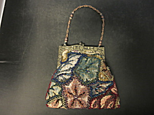 Jessica Mcclintock Beaded Tapestry Purse Handbag