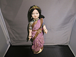 Vintage Harilelas Bombay Indian Doll Cloth Face 10 Inch