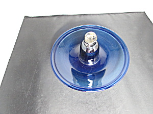 Cobalt Blue Blown Glass Bird Feeder