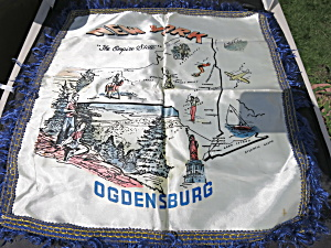 New York The Empire State Ogdensburg Pillow Case