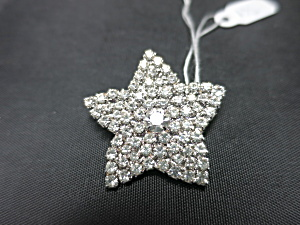 Vintage Rhinestone Star Pin Brooch (Image1)