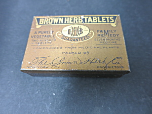 Vintage Brown Herb Tablets Tin by The Brow Herb Co (Image1)