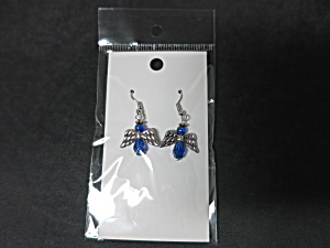 Cobalt Blue Angel Earrings Hand Made By Allie