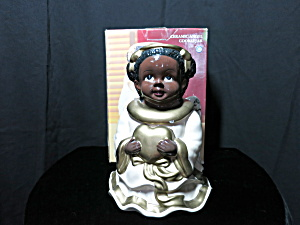 Black American Angel With Heart Cookie Jar Jay Imports
