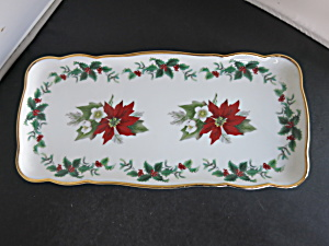 Gloria Bayreuth Germany Serving Tray Poinsettia