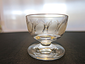 Libby Glass Pedestal Salt Cellar Dip