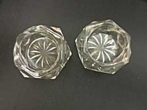 Cut Crystal Salt Cellar Set Of Two