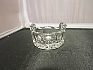 Starburst Salt Cellar Spoon Tab Handle Crystal Clear