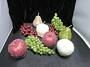 Artificial Glass Sugar Coated Fruit Apple Pear Grapes