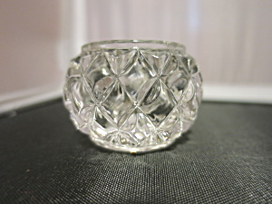 Cut Crystal Salt Cellar Diamond Cut
