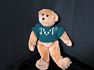 Hand Crafted Teddy Bear Vermont Uvm Knitted Sweater