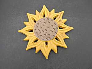 Sunflower Cast Iron Trivet Tht 2001
