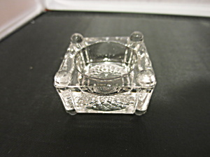 Square Floral Salt Cellar With Column Feet
