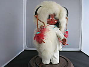 Pima Indian Paper Mache Doll White Buffalo
