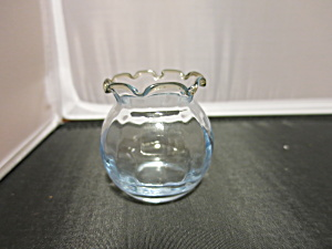 Blown Glass Salt Cellar Salesman Sample Bud Vase Snifte