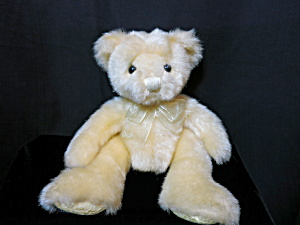 Hand Crafted Teddy Bear Yellow Shimmering 8 Inch