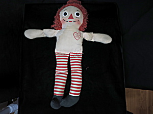 Vintage Knickerbocker Raggedy Ann Cloth Doll 15 inch (Image1)