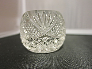Faceted Clear Crystal Open Salt Cellar
