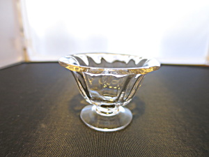 Fostoria Fairfax Pedestal Salt Cellar Crystal Clear