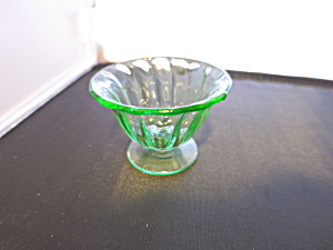 Fostoria Fairfax Pedestal Salt Cellar Green